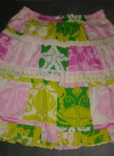 Lilly Pulitzer Paradise Patch  Little Girls Skirt Sz 8 Patch Paradise