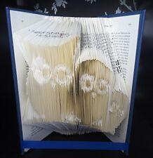 Owl folded book art gift