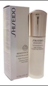 NIB Shiseido Benefiance WrinkleResist 24 - Night Emulsion 2.5 oz ~ Sealed