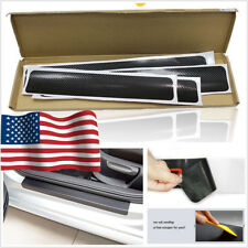 4 Pcs 4D Carbon Fiber Car Accessories Door Sill Scuff Protector Stickers & Tool (Fits: Dodge Intrepid)