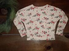 Gap Kids Girls S 6-7 Floral Dolman Sleeve Raffia Shirt Top Fall Color Holiday 14