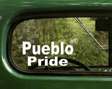2 PUEBLO PRIDE DECALs Native American Sticker Truck Car Laptop Window Bumper