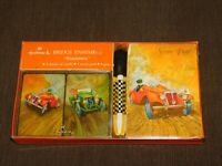 VINTAGE HALLMARK BRIDGE ENSEMBLE RACE CARS ROADSTERS PLAYING CARDS IN BOX NEW