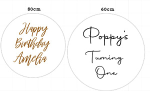 Vinyl decal perfect for 50cm/60cm Balloon backdrops- Acrylic NOT included