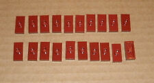 1x2 Dark Red Plate with 1 Stud (20x) 4539063 LEGO Brick 3794