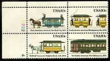 Streetcars - Scott #2059-2062  Plate Block of 4 Stamps MNH
