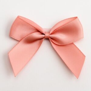5cm Satin Bows - Self Adhesive Pre Tied Large Bow Craft 16mm Ribbon Sticky Gifts