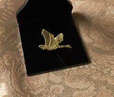 Vintage Goldtone Goose Duck Flight Flying Pin Brooch Tie Tac Lapel Pin
