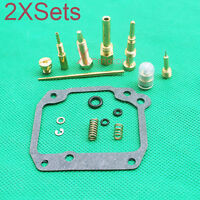 New 2 X Sets Carb Carburetor Repair Rebuild Kit For Suzuki LT185 Quadrunner ATV