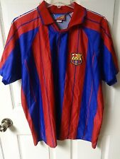 Vintage FC Barcelona Futbol Soccer Jersey Men XL Official Merchandise Roger's SL