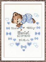 RIOLIS 1124 Baby Bear cub Birth Embroidery counted
