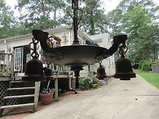 Vintage 4 Bulb Ceiling Light Fixture Hanging Lamp Art Deco (Parts or Repair)