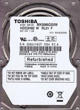 Toshiba MK5065GSXW p/n: HDD2H82  A0/GJ003A  500GB Notebook Hard Drive A24-04