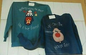 A Piece of Heaven 107 Nothing But Fun Applique & Embroidery Christmas Sweatshirt