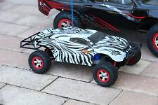 Custom Body Zebra Style for Traxxas 1:16 Slash / e-Revo 1/16 Scale e Revo