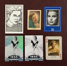 PRINCESS GRACE KELLY MOVIE STAR FILM STAR TRADING CARDS LOT OF 6