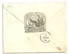 1d LILLA Slough 1888 ILLUSTRATO incisa ritagliato sul retro
