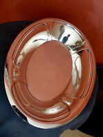 Alfenide CHRISTOFLE Art Deco 1930 antique fruits bread dish Corbeille à pain