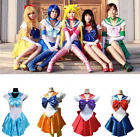 Sailor Moon Costume Cosplay Uniform Fancy Dress Up Sailormoon Party Outfit Lot
