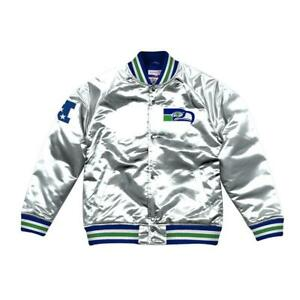 Mitchell & Ness Men's Seattle Seahawks Championship Satin Jacket ALL SIZES