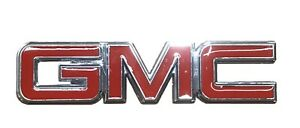 GMC Red Chrome Emblem Attaches With 3M Tape Flat Adheres to Nearly Anything