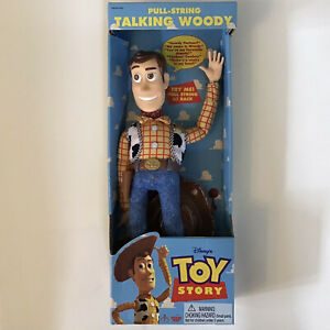 "VTG NEW IN BOX DISNEY TOY STORY WOODY PULL-STRING TALKING DOLL 15"" 62943 WORKS"