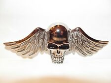 New Belt Buckle Skull with Pilot Flying Wings NWOT