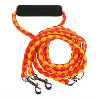 "Dual Dog Leash 56"" Long No Tangle Double Walk Pet Coupler 2 Dogs Nylon 2 Colors"