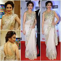 UK- Stunning Indian Designer Bollywood Madhuri Dixit Pink partywear Saree, Sari
