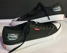 Mens Levi's Black Denim Sneakers White Soles With Comfort Tech Size 8 M US New