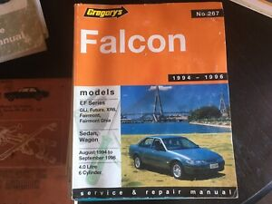 FORD FALCON 1994 1996 EF SERIES GREGORYS WORKSHOP SERVICE MANUAL