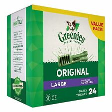 GREENIES® Dental Dog Treat size Large for dogs 50-100 lbs (24 Counts)(36 oz)