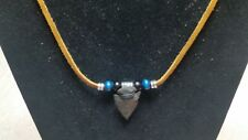 Handcrafted Native American Agate Arrowhead Necklace, USA