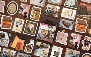 RETRO SCREENING ROOM STICKERS Random Scrapbook Journal Diary Craft Decoration