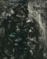 KAMBODSCHA 1959  - Walter SPITZER - URWALD-GOTTHEIT - Original Farblithographie
