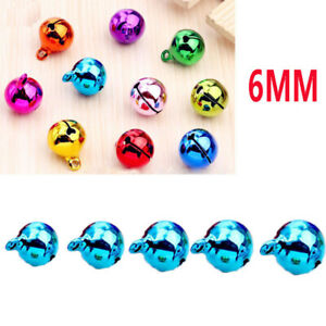 5Pcs 6mm universal Automotive Interior Pendants Metal Jingle Bells blue A+++