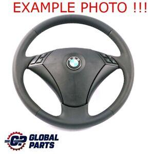 BMW 5 Series E60 E61 Black New Leather Steering Wheel