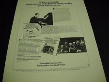 George Gershwin Rhapsody In Blue and Concert Of Century dual 1976 Promo Ad mint