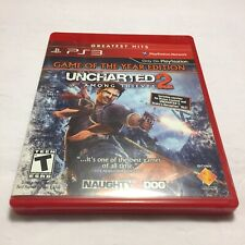 Uncharted 2 Among Thieves PlayStation 3 PS3 Complete Manual Fast Free Shipping