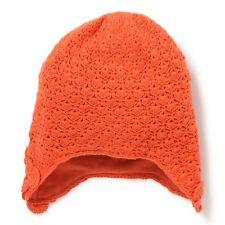 Bonnet Péruvien en Maille Crochet Orange Clémentine Marese Taille 49 cm Neuf