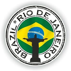 Seal Sticker of Brazil Rio De Janeiro Christ Stamp Bumper Roundel Laptop Car