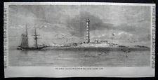 BAHAMAS - Great Isaac Lighthouse - Leuchtturm. Originaler Holzstich von 1859