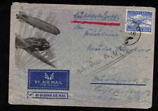 Feldpost II. WK Luftpostumschlag Brief 1942 nach Stuttgart - By German Air Mail