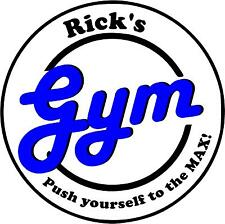 Personalized GYM sign decal sticker fitness workout  with favorite saying quote