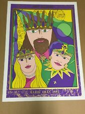 1993 New Orleans Mardi Gras Poster Signed and Numbered Silkscreen