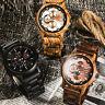 Orologio da uomo in legno Legno Quartz Orologio Casual orologi da polso naturali