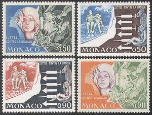 Monaco 1973 Medical/Anti-Drugs/Health/Welfare/Syringe/Children 4v set (n41700)