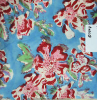 Indian 100% Cotton Voile Fabric Blue-Red Sewing Hand Block Print Craft 10 yard