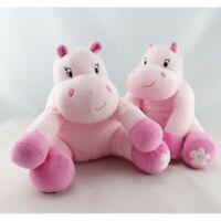 Doudou Hippopotame rose arthur et lola BEBISOL lot de 2 - Hippopotame Classique