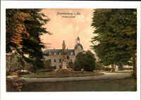 FRANKENBERG Sachsen Haus Gebäude im Friedenspark Park color Repro-Postkarte